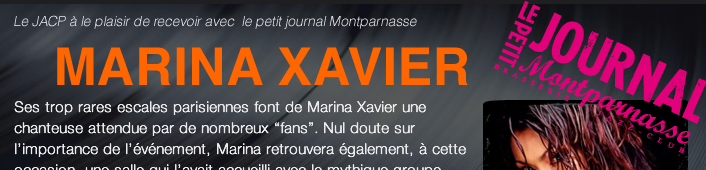 Marina Xavier en concert au petit journal Montparnasse
