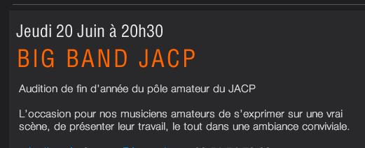 Big Band JACP à la royale FACTORY
