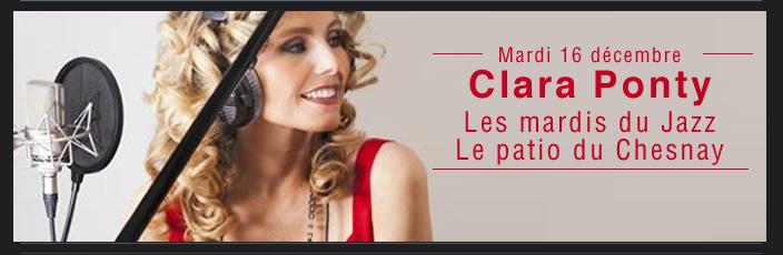 Clara Ponty : Les mardis du Jazz Le patio du Chesnay