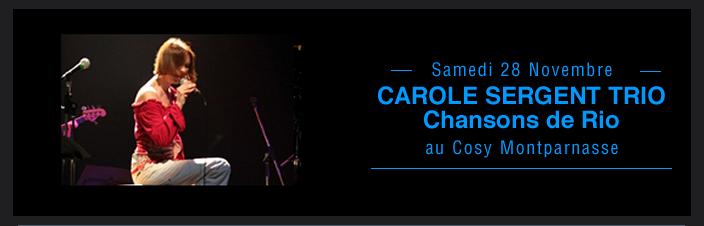 CAROLE SERGENT TRIO Chansons de Rio