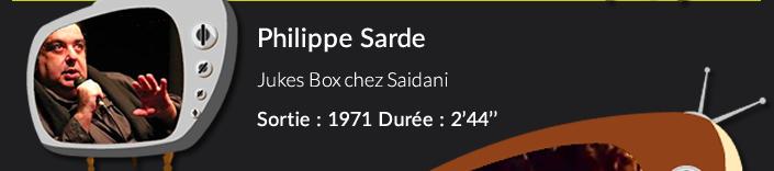 Philippe Sarde ukes Box chez Saidani  Sortie : 1971 Durée : 2'44''