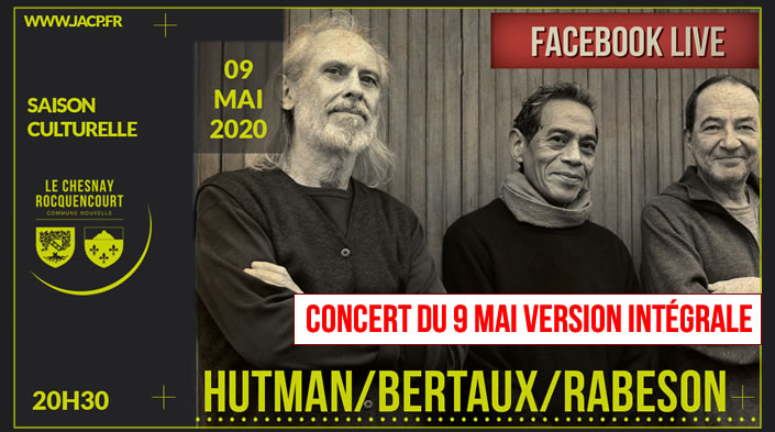 Olivier Hutman, Marc Bertaux et Tony Rabeson. facebook live